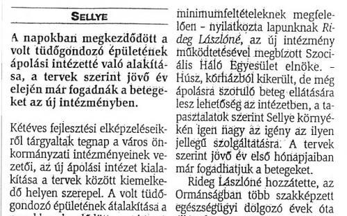 Sellye, 2000-10-31